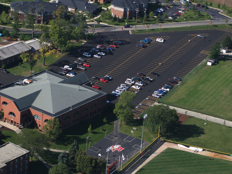 Benedictine University paving project by rose paving
