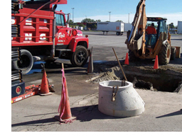 Catch basin installation process