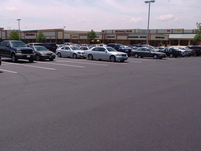 deerbrook mall parking lot repair project