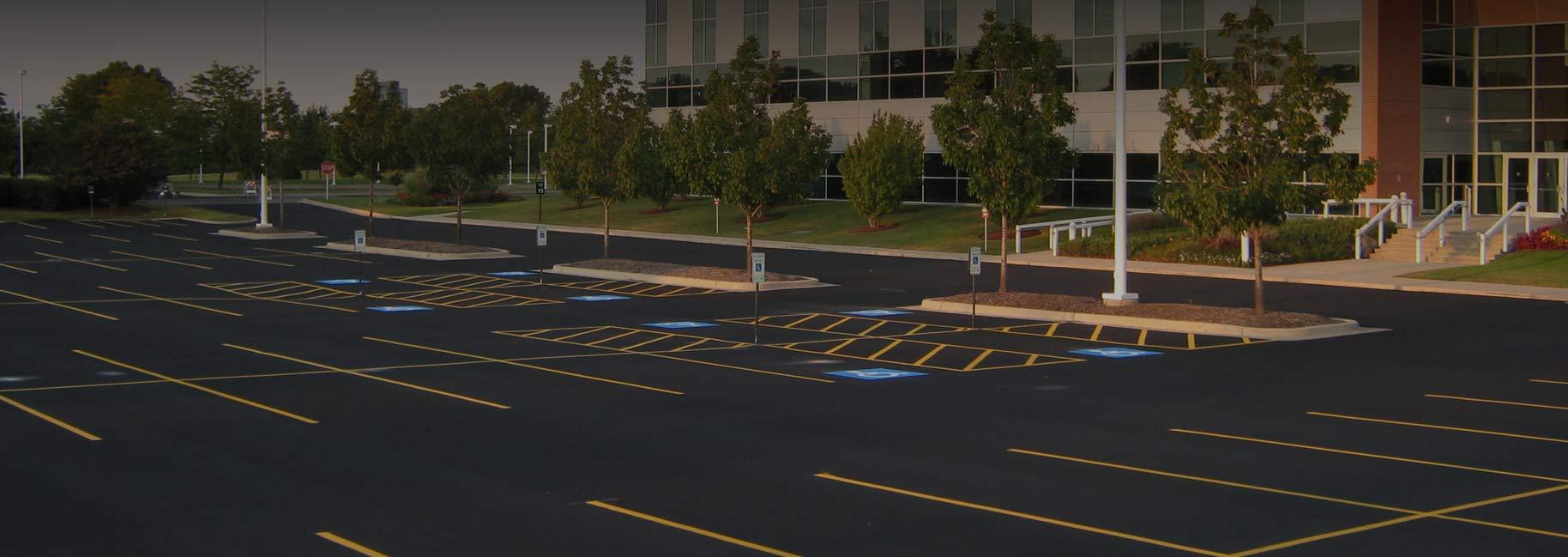Retail Shopping Center Parking Lot Maintenance Rose