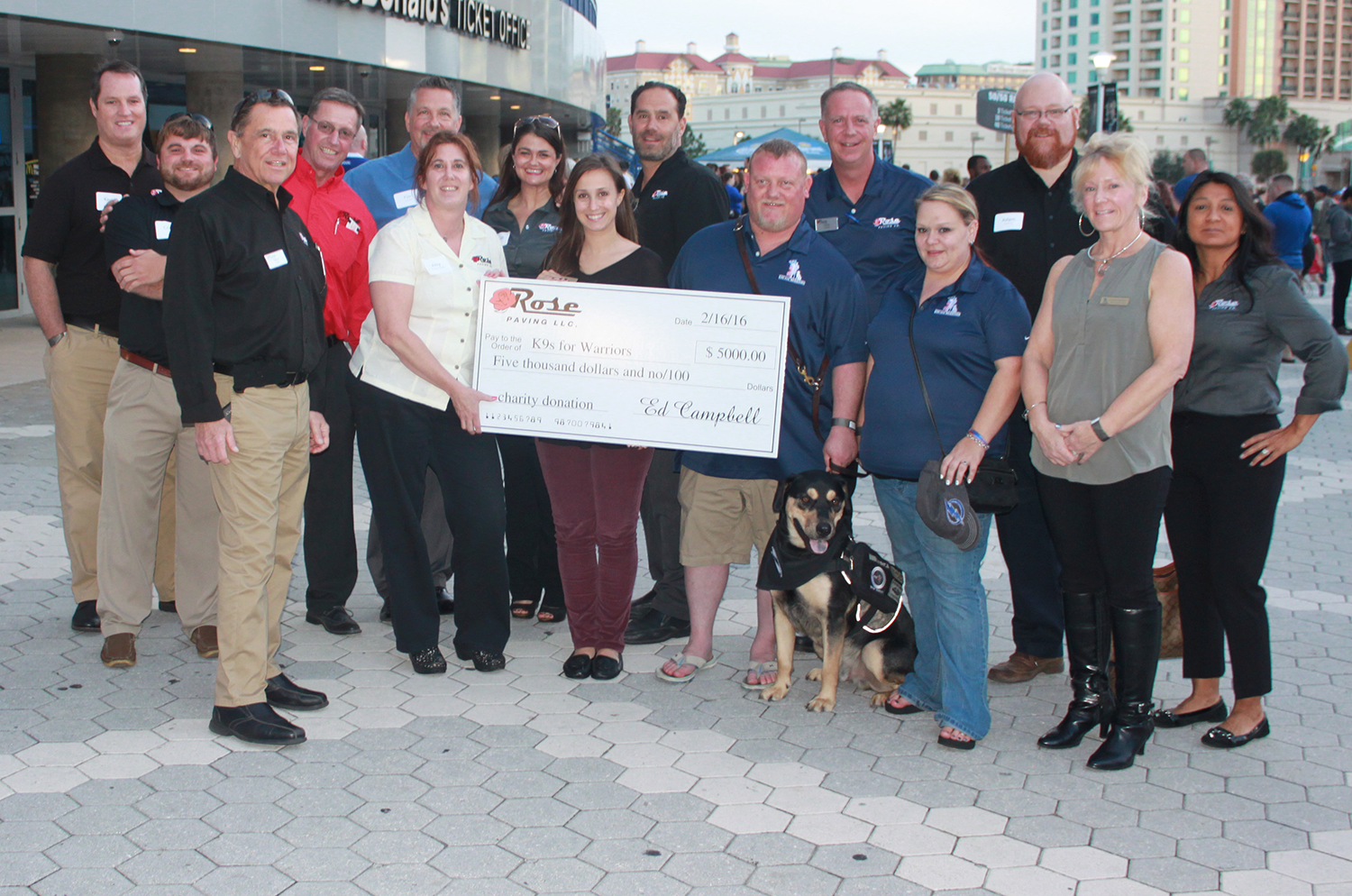 rose paving supports k9s for warriors