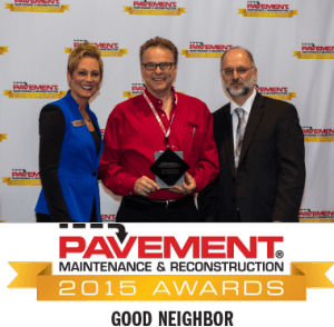 rose paving wins 2015 good neighbor award