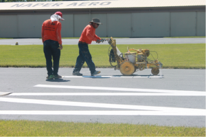 rose paving marking runway at naper aero club