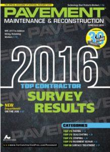 2016 pavement Top Contractors