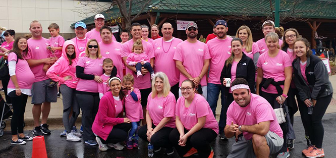 rose paving walks for making strides of Northwest Suburban American Cancer Society Event