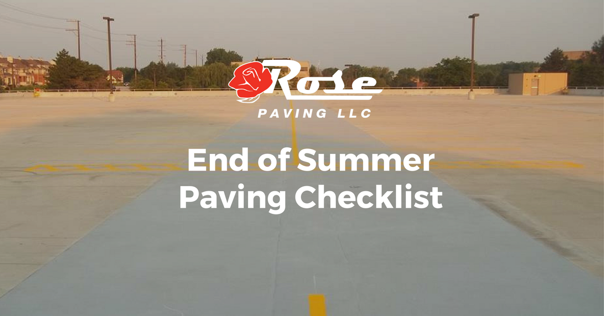 End of Summer Paving Checklist
