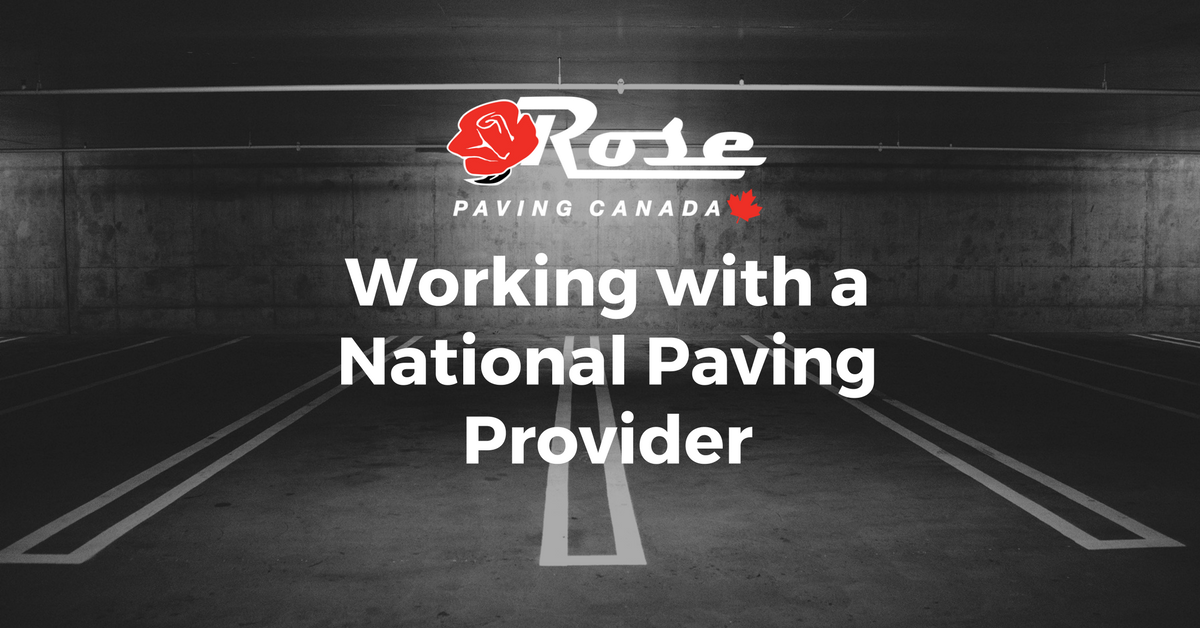 Working with a National Paving Provider