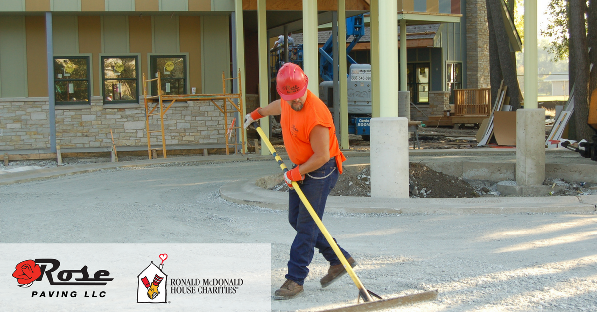 Paving work at Ronald McDonald House