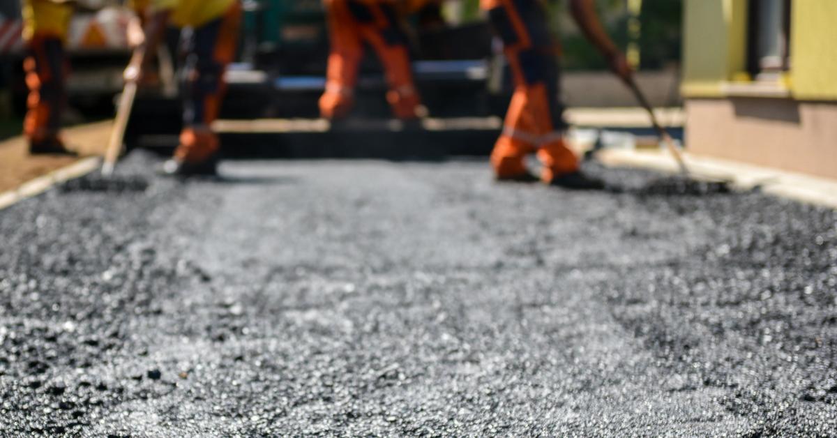 freshly laid asphalt