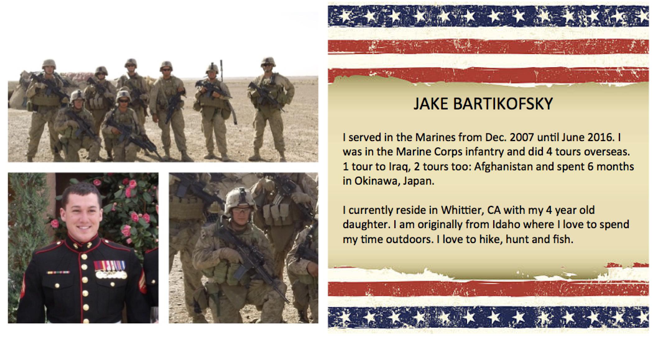Jake Bartikofsky veteran profile
