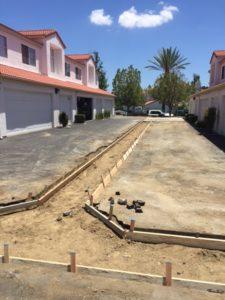 HOA paving project before photo 1