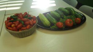 Rose Paving vegetables from garden 2