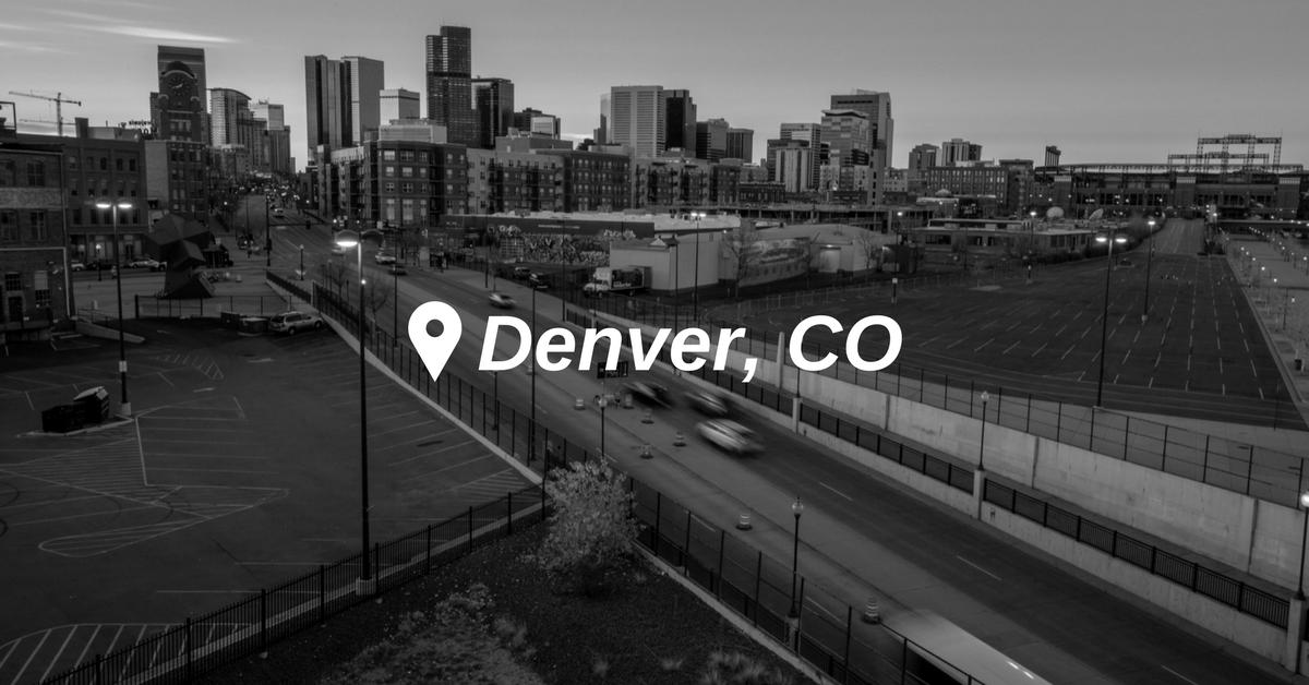 Rose Paving Denver, Colorado black and white cityscape