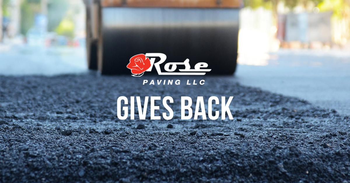 Rose Paving gives back